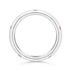 Toggle Gypsy Set Round Pink Sapphire Eternity Wedding Band