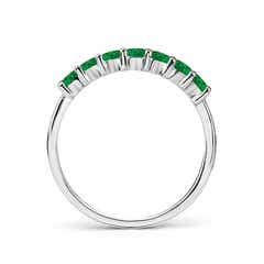 Toggle Half Eternity Seven Stone Emerald Wedding Band