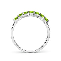 Toggle Half Eternity Seven Stone Peridot Wedding Band