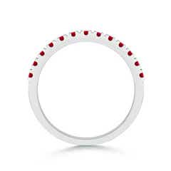 Toggle Unique Prong Ruby Half Eternity Wedding Band