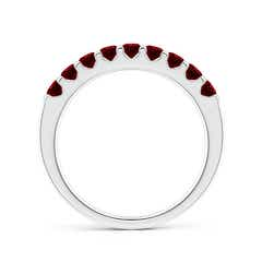 Toggle Shared Prong Set Half Eternity Ruby Wedding Band