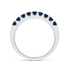 Shared Prong Set Half Eternity Sapphire Wedding Band