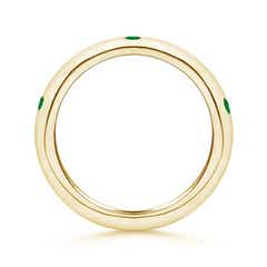 Toggle Gypsy Set Emerald High Dome Wedding Band