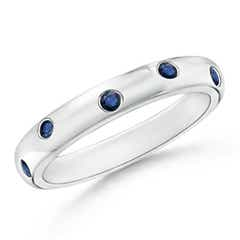 Gypsy Set Sapphire High Dome Wedding Band