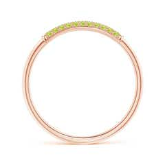 Toggle Triple Row Peridot Dome Wedding Band