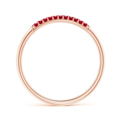Toggle Triple Row Ruby Dome Wedding Band