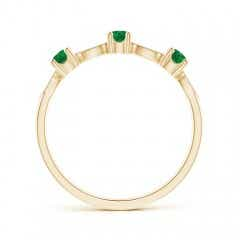 Toggle Emerald & Diamond Marquise and Dot Band