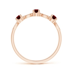 Toggle Ruby & Diamond Marquise and Dot Band