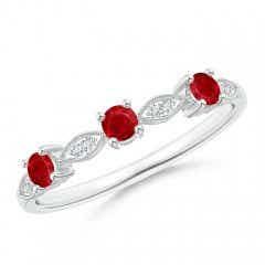 Ruby & Diamond Marquise and Dot Band