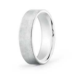 Angara Mens Satin Surface Beveled Edges Comfort Fit Wedding Band CbIz6