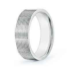 Threaded Pattern Satin Finish Comfort Fit Wedding Band