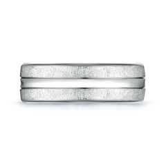 Toggle Swirl Finish Center Grooved Comfort Fit Wedding Band