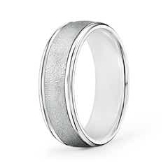 Polished Edges Wired Finish Comfort Fit Wedding Band