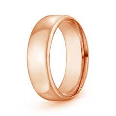 High Polished Low Dome Comfort Fit Wedding Band