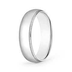 Classic Milgrain Comfort Fit Wedding Band for Him