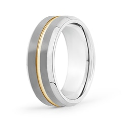 Matte 8mm Tungsten Carbide Wedding Band with Grooved Center