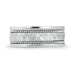 Toggle Hand Braided Twisted Rope Men's Wedding Band