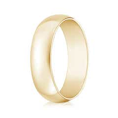 High Polished Domed Men's Comfort Fit Wedding Band