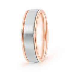Two Tone Satin Finished Comfort-Fit Plain Band for Him