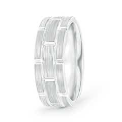 Brushed Finish Men's Rolex Style Wedding Band