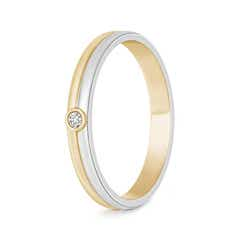 Bezel Set Solitaire Diamond Band For Him