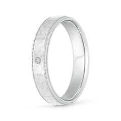 Gypsy-Set Diamond Hammered Finish Wedding Band for Men