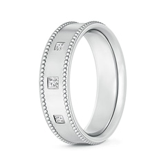 Gypsy-Set 3 Stone Princess Diamond Men's Wedding Band