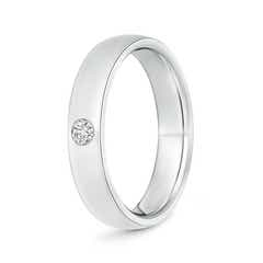 Gypsy Set Round Diamond Solitaire Wedding Band for Men