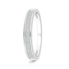 Angara Milgrain-Edged Pave Set Diamond Half Eternity Mens Wedding Band NO9Pn2X2