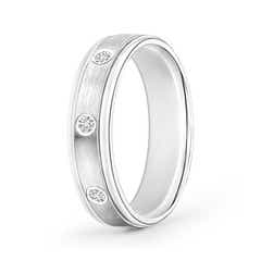 Satin Finish Gypsy Set Men's Diamond Wedding Band