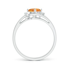 Toggle Split Shank Citrine Engagement Ring with Wedding Band