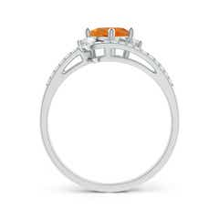 Toggle Oval Citrine and Diamond Wedding Band Ring Set