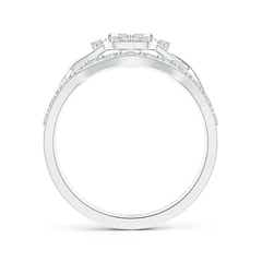 Toggle Interlaced Quad Diamond Cushion Halo Bridal Set