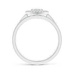 Toggle Floating Trio Diamond Heart Halo Bridal Set