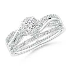 Interlaced Infinity Diamond Bypass Halo Bridal Set