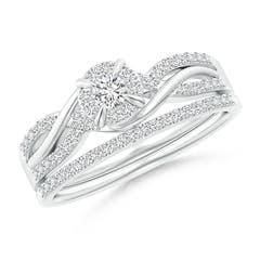 Interlaced Infinity Diamond Bypass Halo Bridal Set