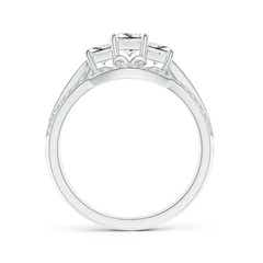 Toggle Princess-Cut Diamond Three Stone Bridal Set
