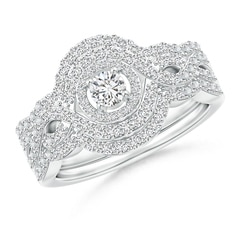 Crossover Infinity Diamond Triple Halo Bridal Set
