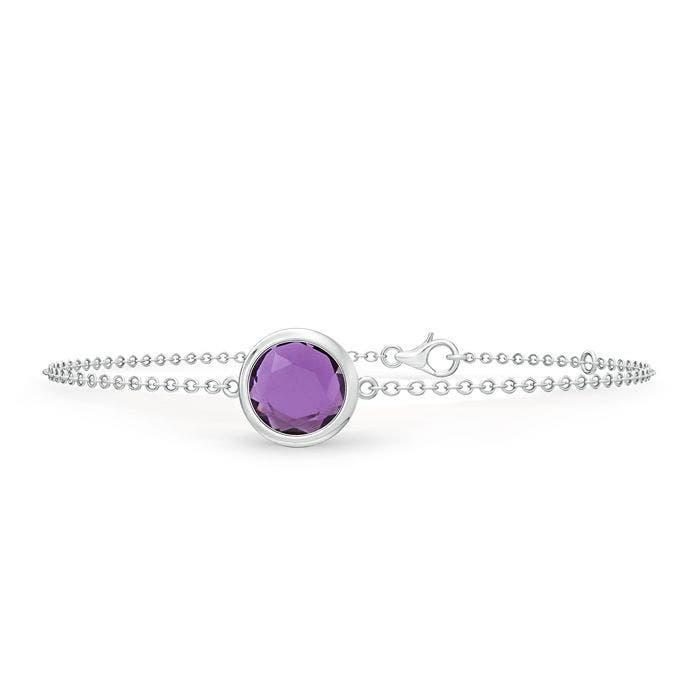 Angara Bezel Set Diamond Bracelet in Silver g7fIkhuQE