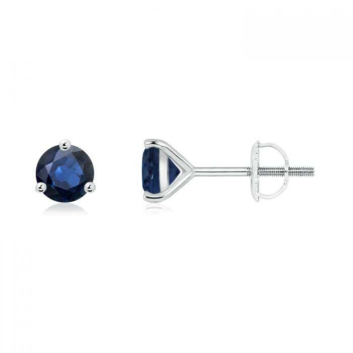 Angara Blue Sapphire Stud Earrings in 14k Yellow Gold JoH0DzN