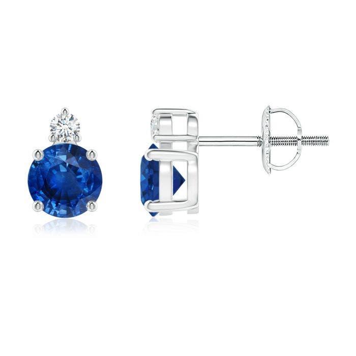 Angara Emerald and Diamond Basket Stud Earrings in White Gold uLZZfwlE5j