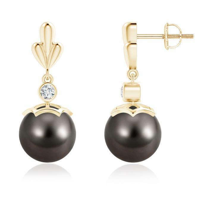 Angara Freshwater Cultured Pearl and Diamond Bar Drop Earrings PVbdsR2