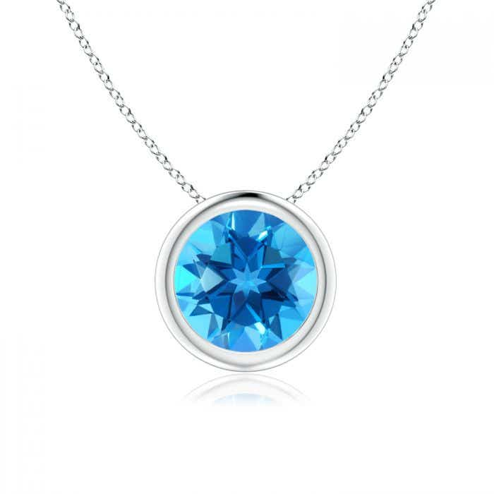 Details about  /Swiss Blue Topaz Sailboat Necklace with Diamond /& Sapphire Accents in 18kt Gold