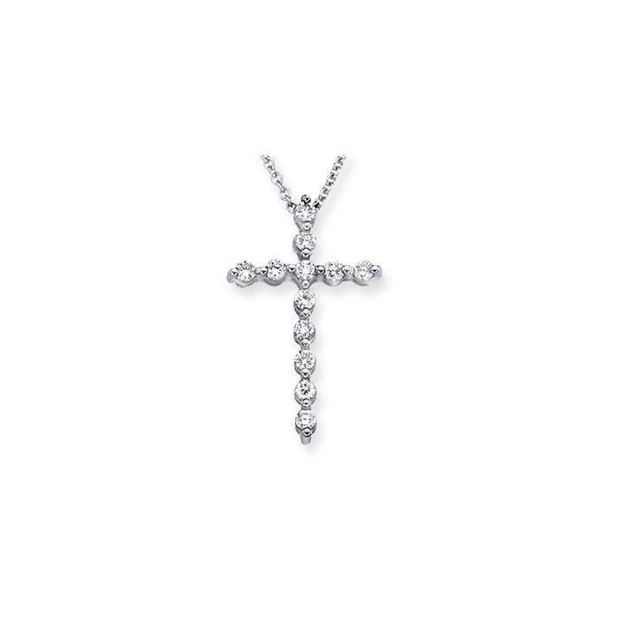 Angara Cross Diamond Earrings in Yellow Gold RqGlb