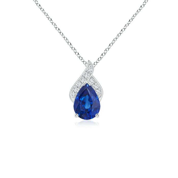 Angara Solitaire Pear-Shaped Tanzanite Flame Pendant 5Q4Y5Xh