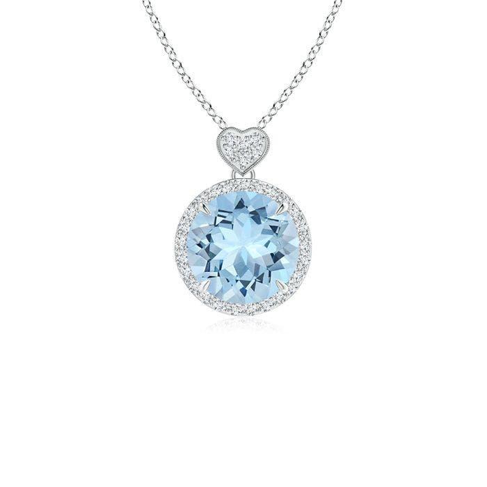 Angara Opal Halo Pendant with Diamond Heart Motif RZL1Jvr