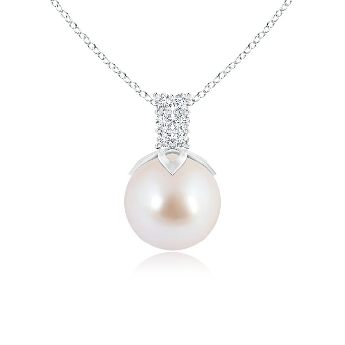 Angara Akoya Cultured Pearl Pendant with Diamond Loop Bale 4zFBT1