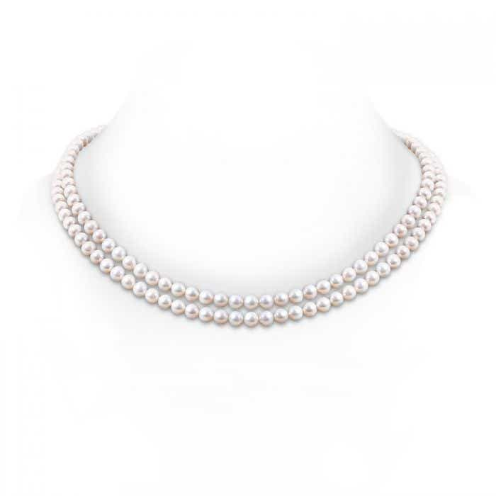 Angara 18 Freshwater Cultured Pearl Double Strand Necklace 9tIOeve