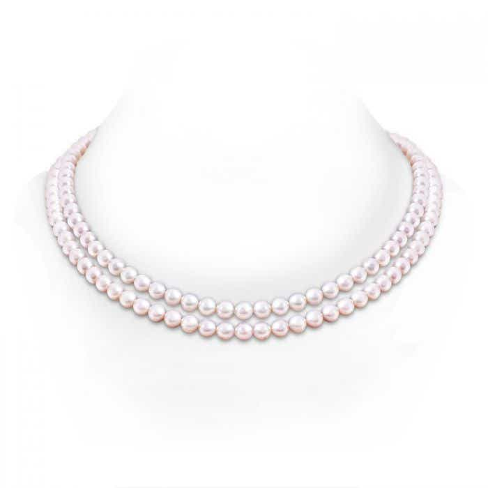 Angara 20 Akoya Cultured Pearl Double Strand Necklace 9atBfuBe