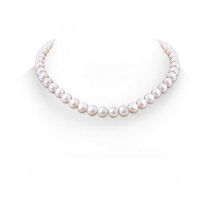 Angara 18 Freshwater Cultured Pearl Single Line Necklace 6Z9vFciP